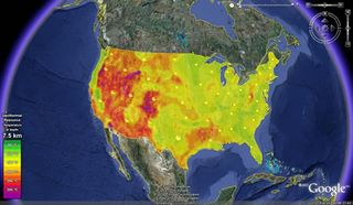 Geothermal Map Of US Earth Science Club Of Northern Illinois - Geothermal map of the us