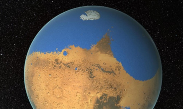 Mars oceans