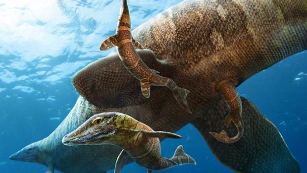 Mosasaur-birth
