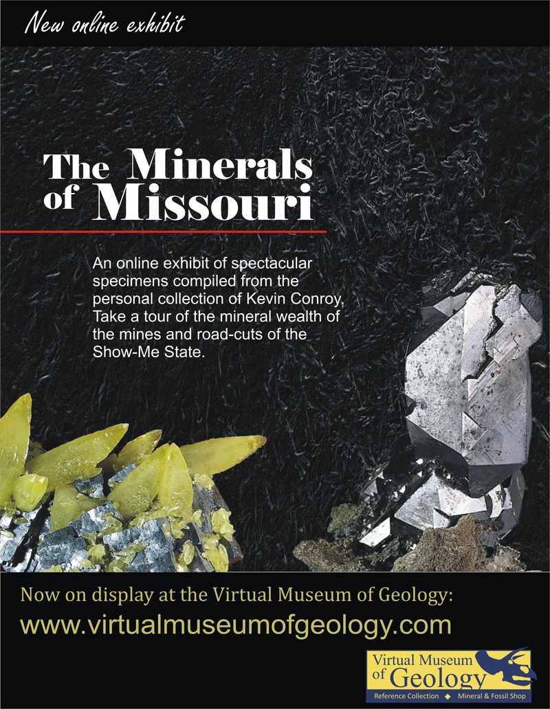 The Minerals of Missouri Exhibit Announcement email