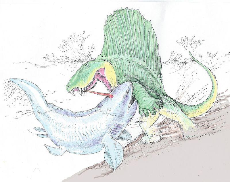 Dimetrodon-battle