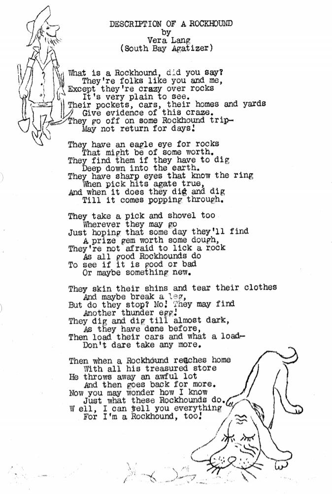 Description of a Rockhound - September 1960