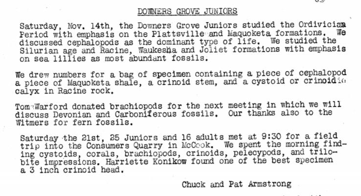 Field Trip Announcement - December 1959