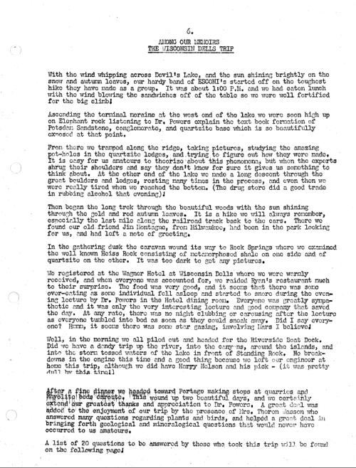 December 1952 - Report 1