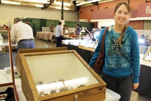 Club Member with Mineral Display